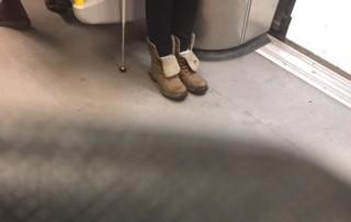 På väg hem från Uppsala i tunnelbanan